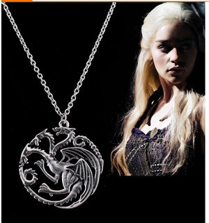 Game of Thrones Targaryen Dragon Badge Necklace