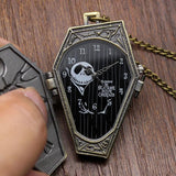 The Nightmare Before Christmas Necklace Pocket Watch