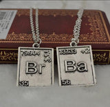 Breaking Bad Br Ba Couples Necklace