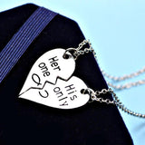 Her One His Only Couples Necklace Set