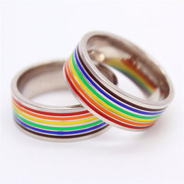 Rainbow Gay Pride Band Ring