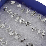 Set of 48 (24 pairs) Mixed Design Stud Earrings