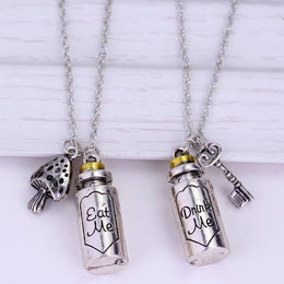 Eat me Drink me Alice in Wonderland Necklace