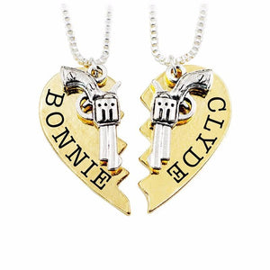 Bonnie and Clyde Friendship Necklaces For 2