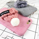 Knitted Winter Hat Cozy iPhone Case