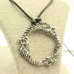 Skyrim The Elder Scrolls Dragon Pendant Necklace