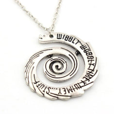Doctor Who Wibbly Wobbly Timey Wimey Spiral Pendant Necklace
