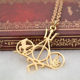 Books to Movie Multi Fandom Symbols Necklace