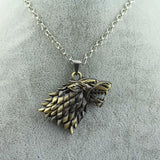 Game of Thrones Stark Wolf Necklace