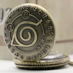 Naruto Pocket Watch Pendant Necklace