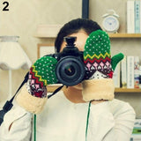 Christmas Tree Patterned Mittens