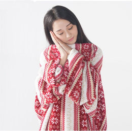 Wearable Blanket with Sleeves