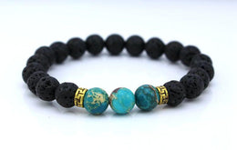 Blue Earth Lava Stone Essential Oil Bracelet Diffuser