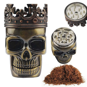 Crowned The King Skull Herb Grinder