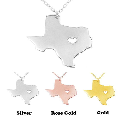 I heart Texas State Necklace