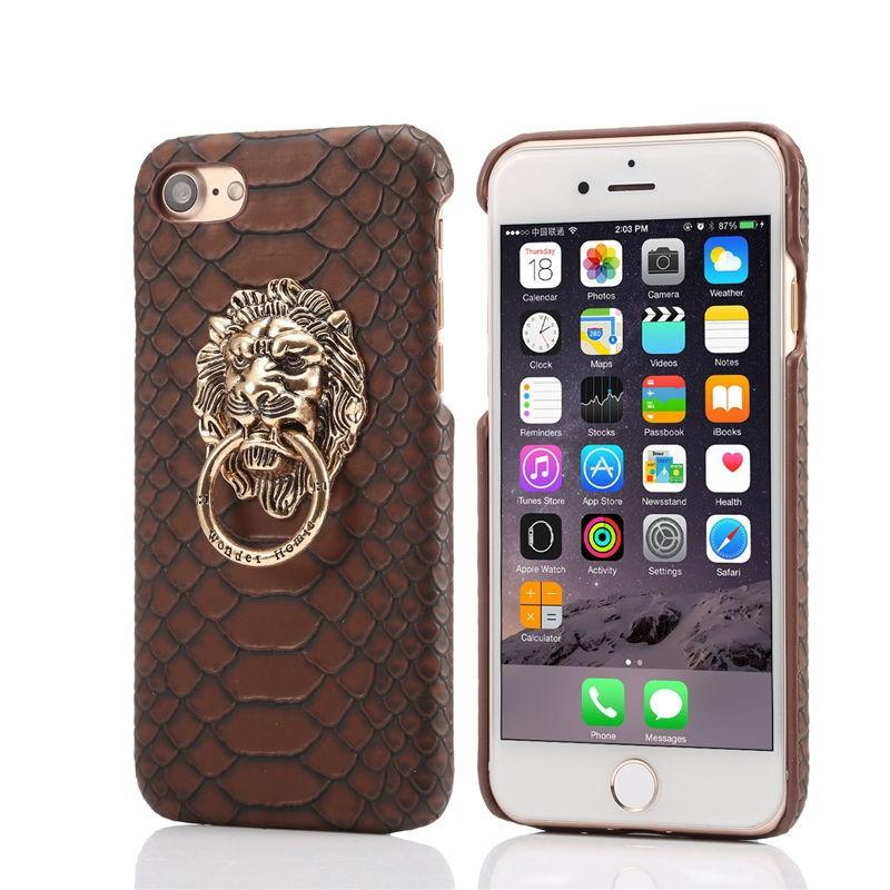 Snake Skin iPhone Case with Lion Head Ring – IWISB