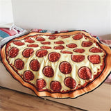 Giant Pizza Beach Tapestry