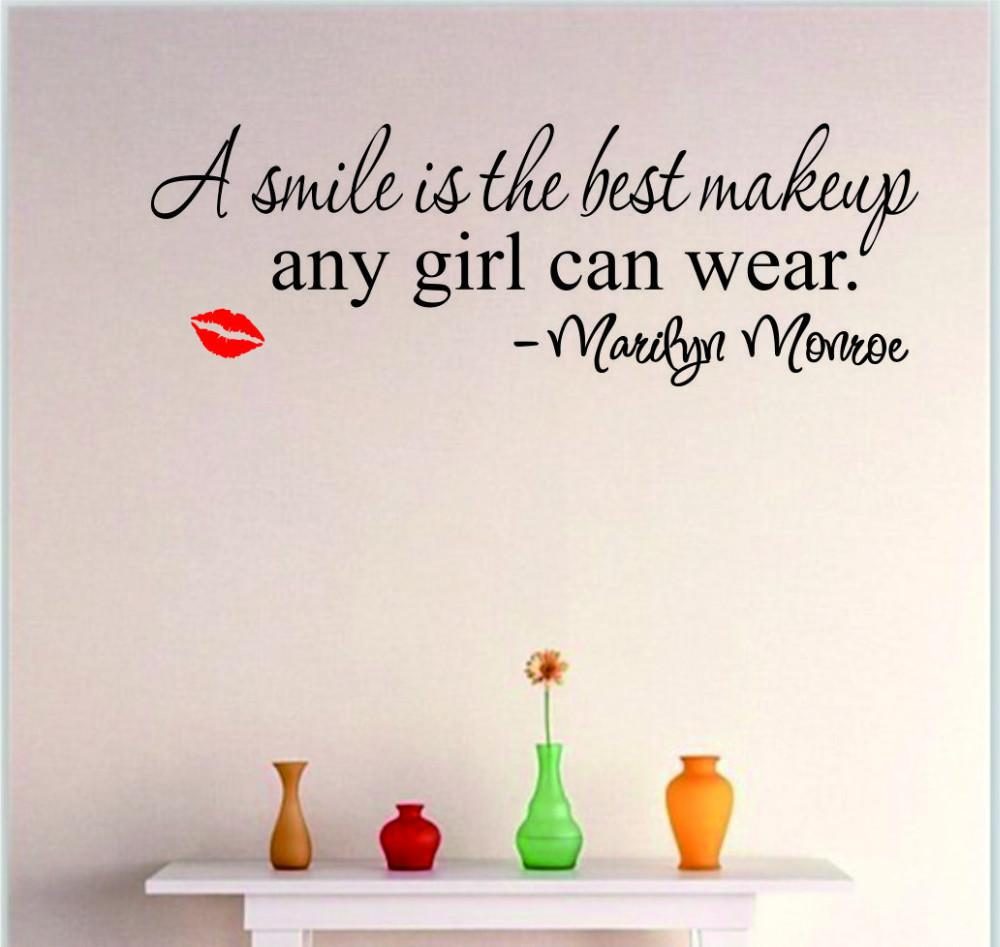 Marilyn Monroe   A Smile Is The Best Makeup Any Girl Can Wear Wall Sticker Part 88