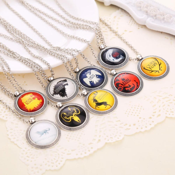 Game of Thrones House Crest Necklaces