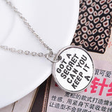Pretty Little Liars Got A Secret Can You Keep It Necklace