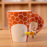 Hand Painted 3D Animal Mug