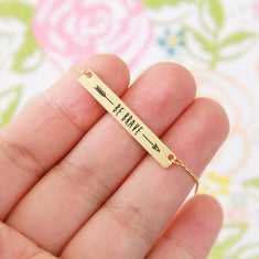 BE BRAVE Bar Necklace