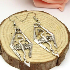 Skyrim Elder Scrolls Dragon Earrings