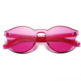 Transparent Candy Color Rimless Sunglasses