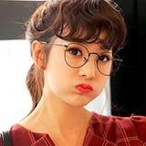 Vintage Inspired Round Metal Frame Clear Lens Glasses