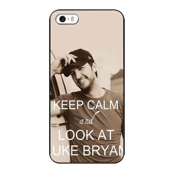 Keep Calm and Look At Luke Bryan iPhone Case