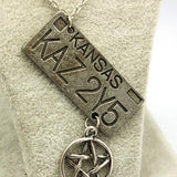 Supernatural Impala License Plate KAZ 2Y5 Necklace