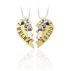 Thelma and Louise Friendship Necklaces - Set of 2