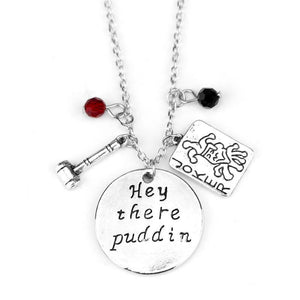 Suicide Squad Harley Quinn Hey There Puddin Necklace