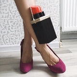 Lipstick Figure Clutch Bag