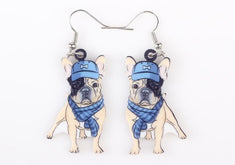 French Bulldog Dog Earrings