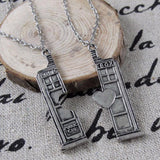Doctor Who Tardis Police Box Couples Necklace