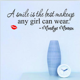 Marilyn Monroe - A Smile is the Best Makeup Any Girl Can Wear Wall Sticker