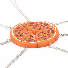 Pizza Friendship Necklace Set of 7