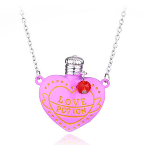 Love Potion Heart Bottle Necklace