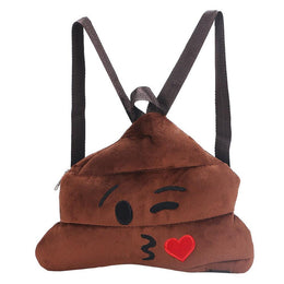 Poo Emoji Plush Backpack