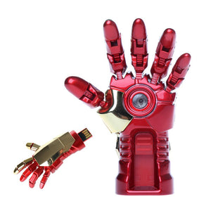 Iron Man Robot Hand Shaped USB Flash Disk