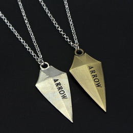 Arrow Logo Pendant Necklace