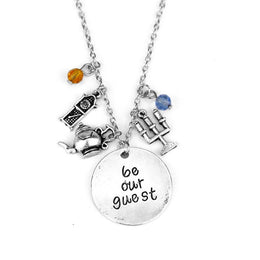 Beauty and the Beast Be Our Guest Necklace