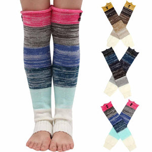 Multicolor Knitted Leg Warmers