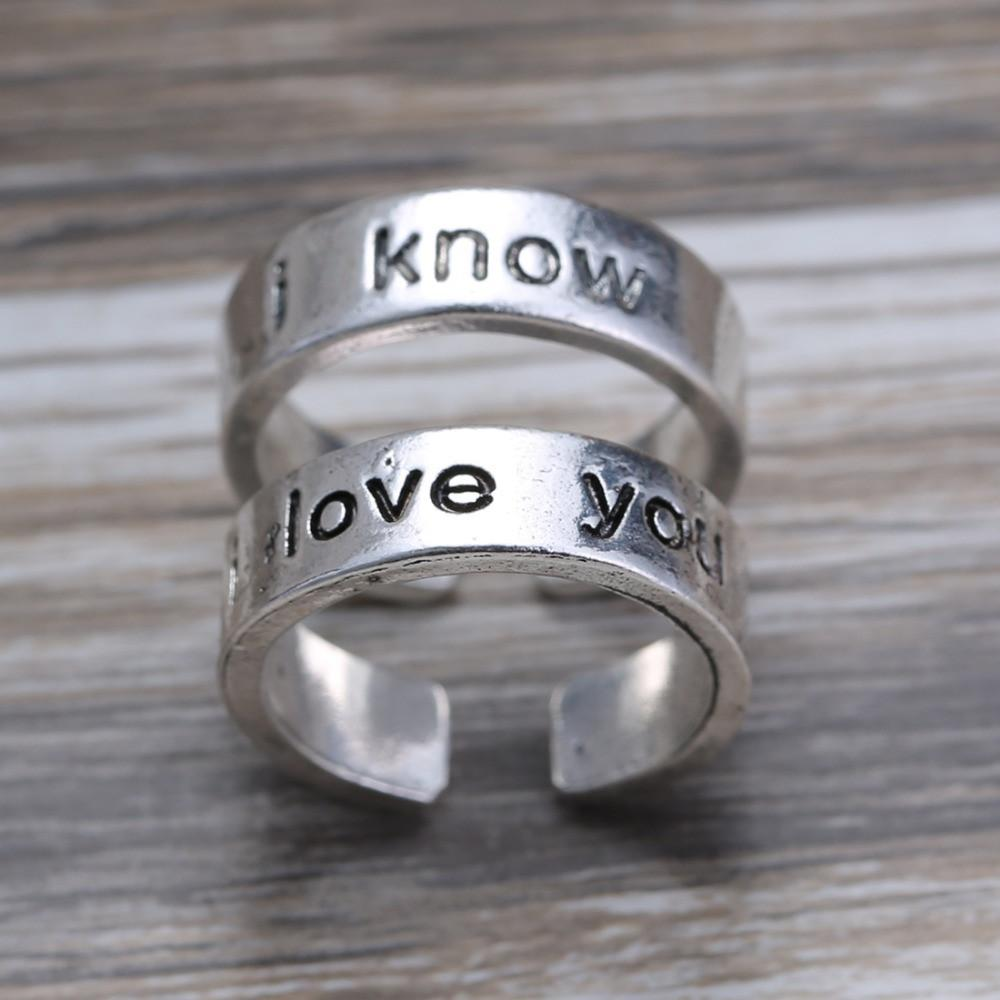 Star Wars I Love You I Know Couple Rings