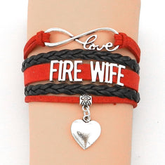 Fire Wife Infinity Love Bracelet