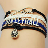 Volleyball Infinity Love Charm Bracelet