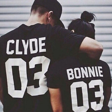 Bonnie and Clyde Matching Couples T-shirts