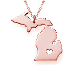 I heart Michigan State Necklace