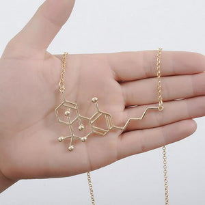 THC Molecule Necklace